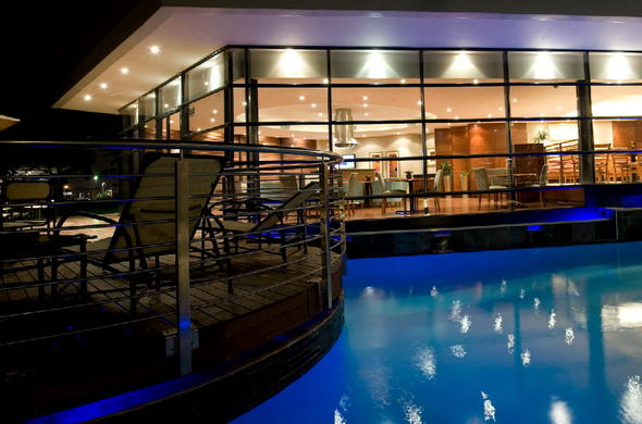 Deck and swimming pool area at City Lodge Johannesburg Airport.