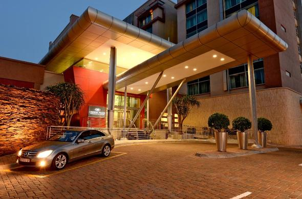 Exterior of Crown Plaza Hotel Johannesburg.