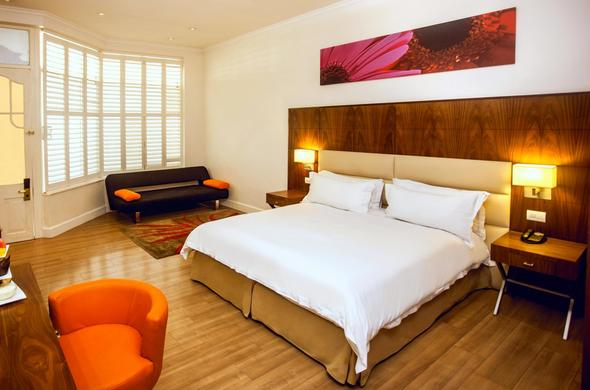 Spacious Deluxe room at Gold Reef City Theme Park Hotel.