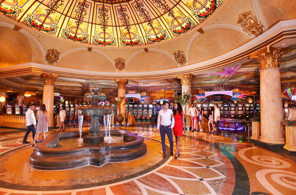 Elegant casino entrance at Metcourt suites at Emperors Palace.