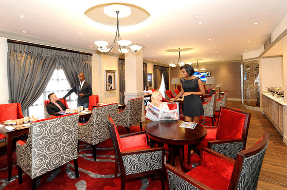 Stylish Club lounge at D Oreale Grande Hotel.
