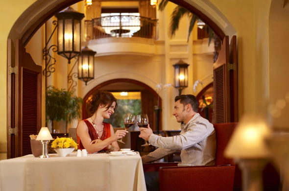 Experience a romantic dinner at Palazzo Montecasino.
