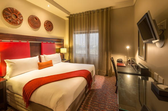 Peermont Mondior Hotel at Emperors Palace offer comfortable accommodation.