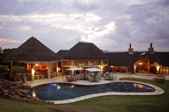 Exterior and pool area at Ivory Tree Game Lodge.
